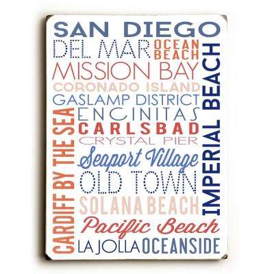 "9 in. x 12 in. ""San Diego"" by ArtLicensing Solid Wood Wall Art"