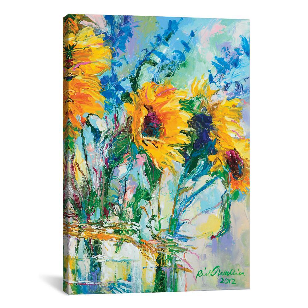 iCanvas ''Sunflowers In Glass Bottles'' by Richard Wallich Canvas Wall Art