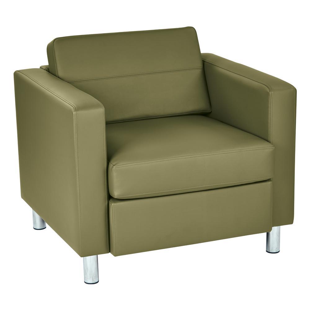 Astonishing Pacific Dillon Sage Vinyl Fabric Arm Chair Machost Co Dining Chair Design Ideas Machostcouk