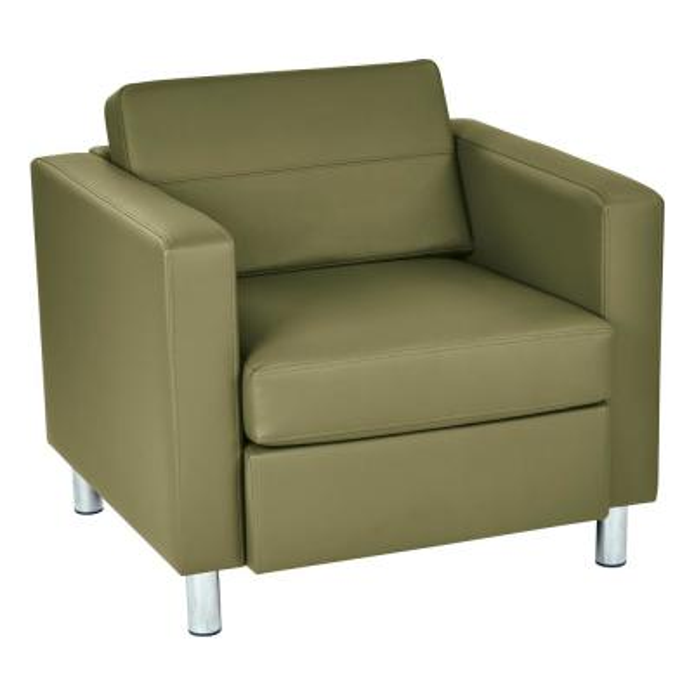 Pacific Dillon Sage Vinyl Fabric Arm Chair