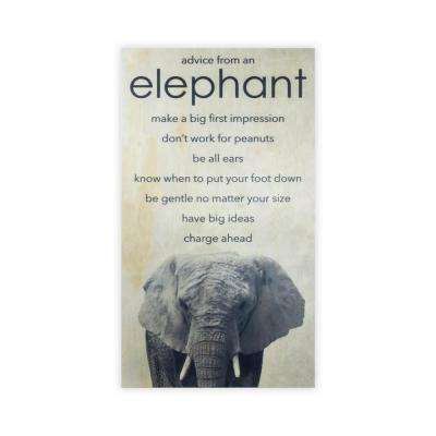 28 in. x 15.75 in. ANIMAL ADVICE- ELEPHANT by Twelve Timbers, INC. Wooden Wall Art