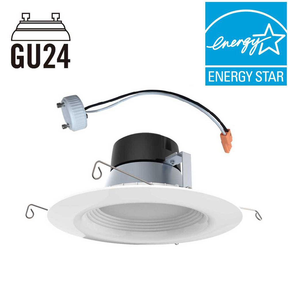 EcoSmart 5in. & 6in. White Integrated LED Recessed Trim