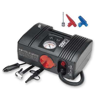 12-Volt 250 psi Tire Inflator and Emergency Light