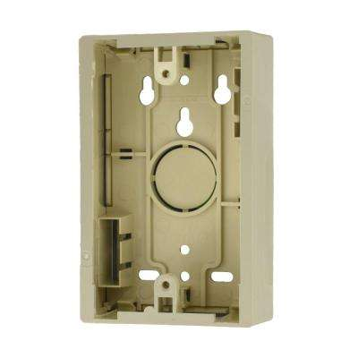 1-Gang 1.45 in. Box Depth Surface Mount Back Box, Ivory
