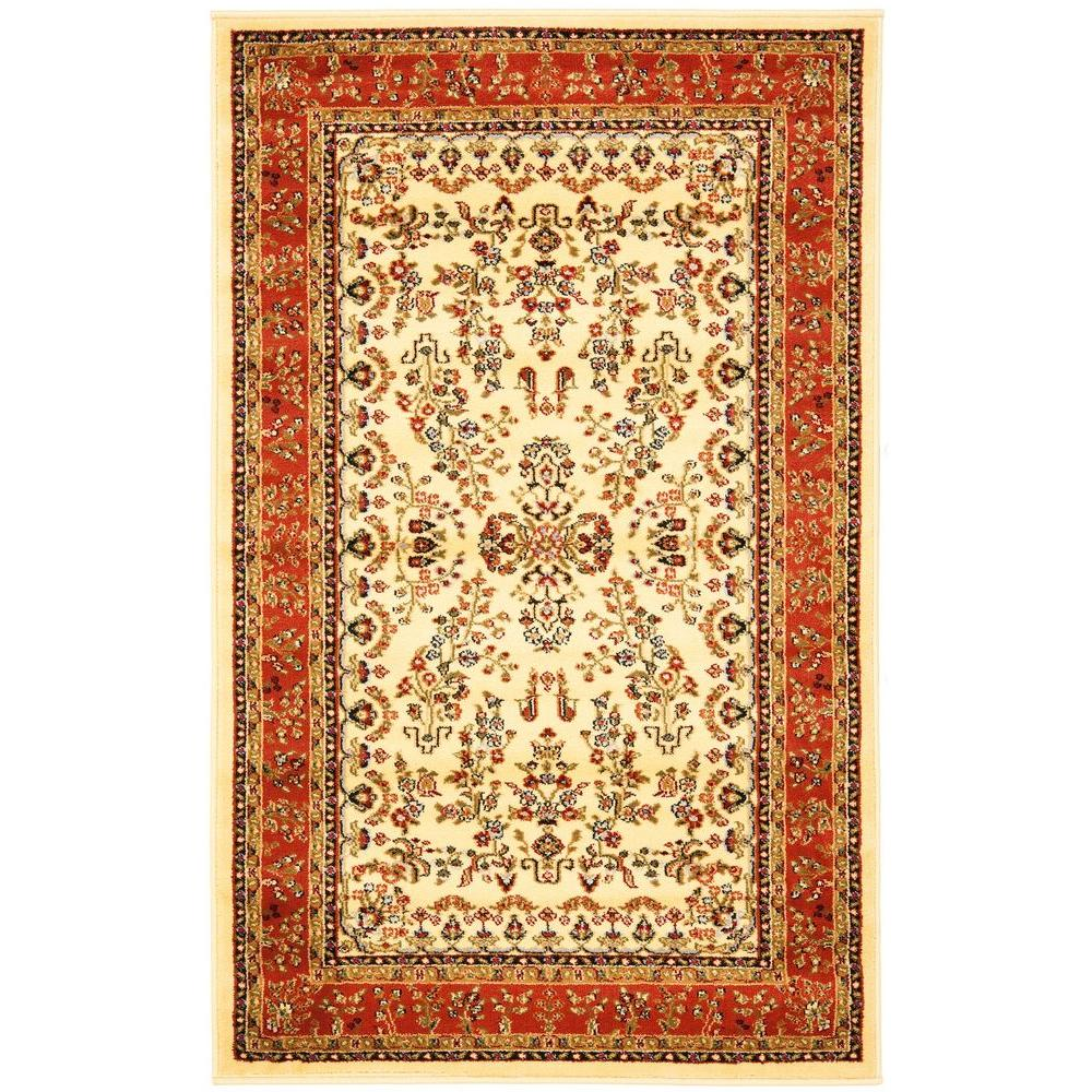 Safavieh Lyndhurst Ivory Rust 3 Ft X 5 Area Rug
