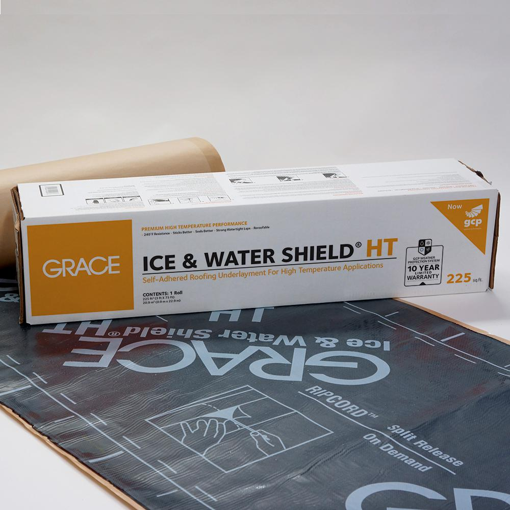 Gcp Applied Technologies Grace Ice And Water Shield Ht 36 In X 75 Ft Roll Self Adhered Roofing Underlayment 225 Sq Ft 5003093 The Home Depot
