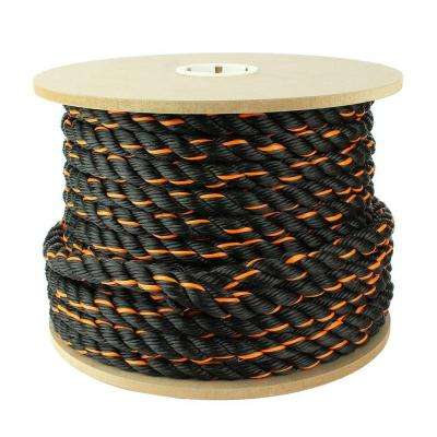 1 in. x 150 ft. Truck Rope, Black/Orange