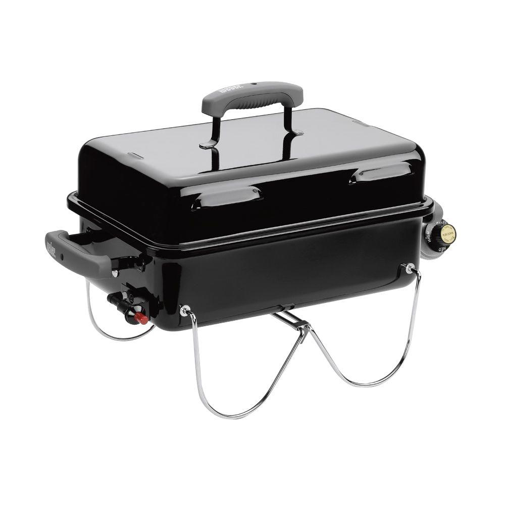 weber go anywhere 1 burner portable propane gas grill in. Black Bedroom Furniture Sets. Home Design Ideas