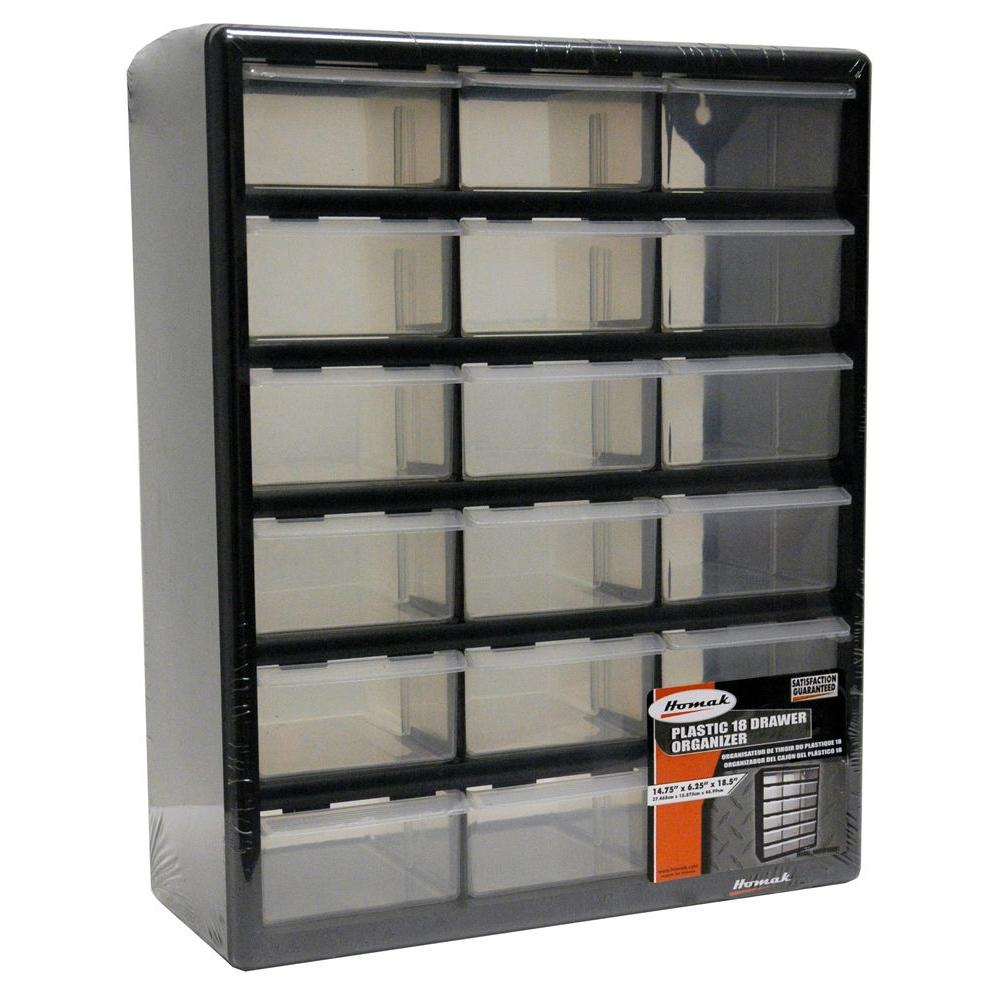 Homak 18 Compartment Storage Small Parts Organizer In
