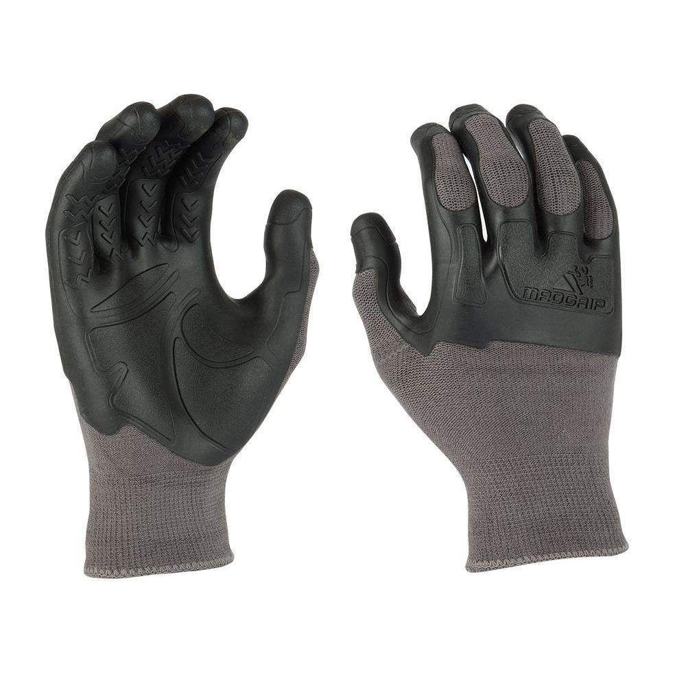 Mad Grip Pro Palm XX-Large Flex Knuckler Glove in Grey/Black