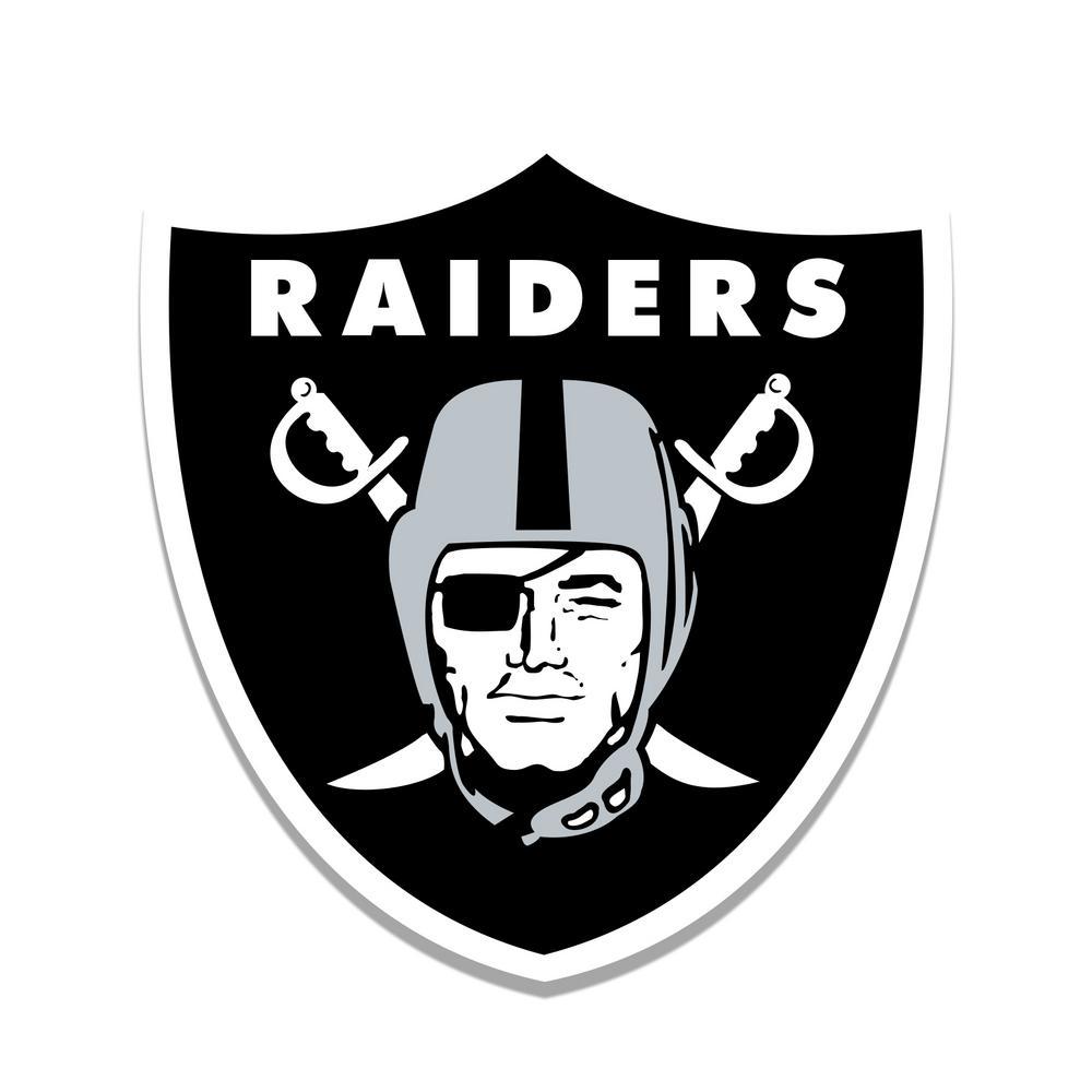 Nfl Indoor Oakland Raiders Distressed Logo Cutout Wood
