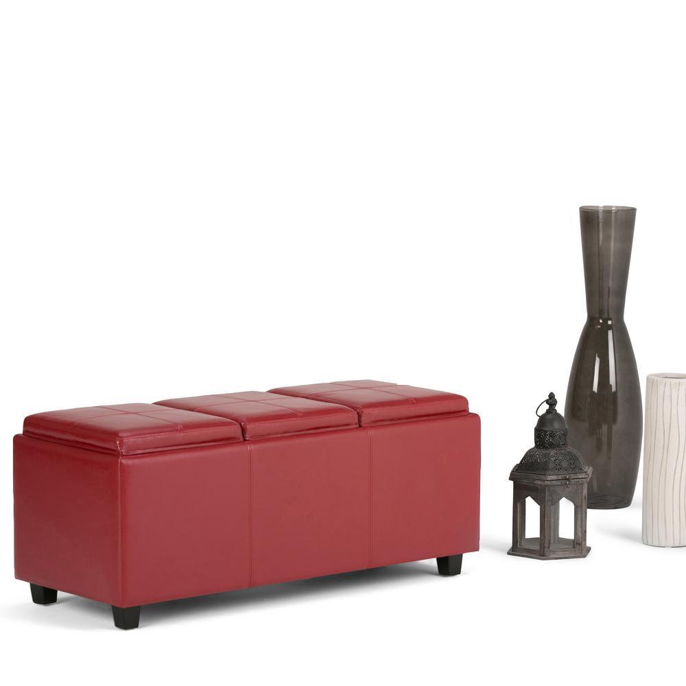 Avalon Red Storage Bench