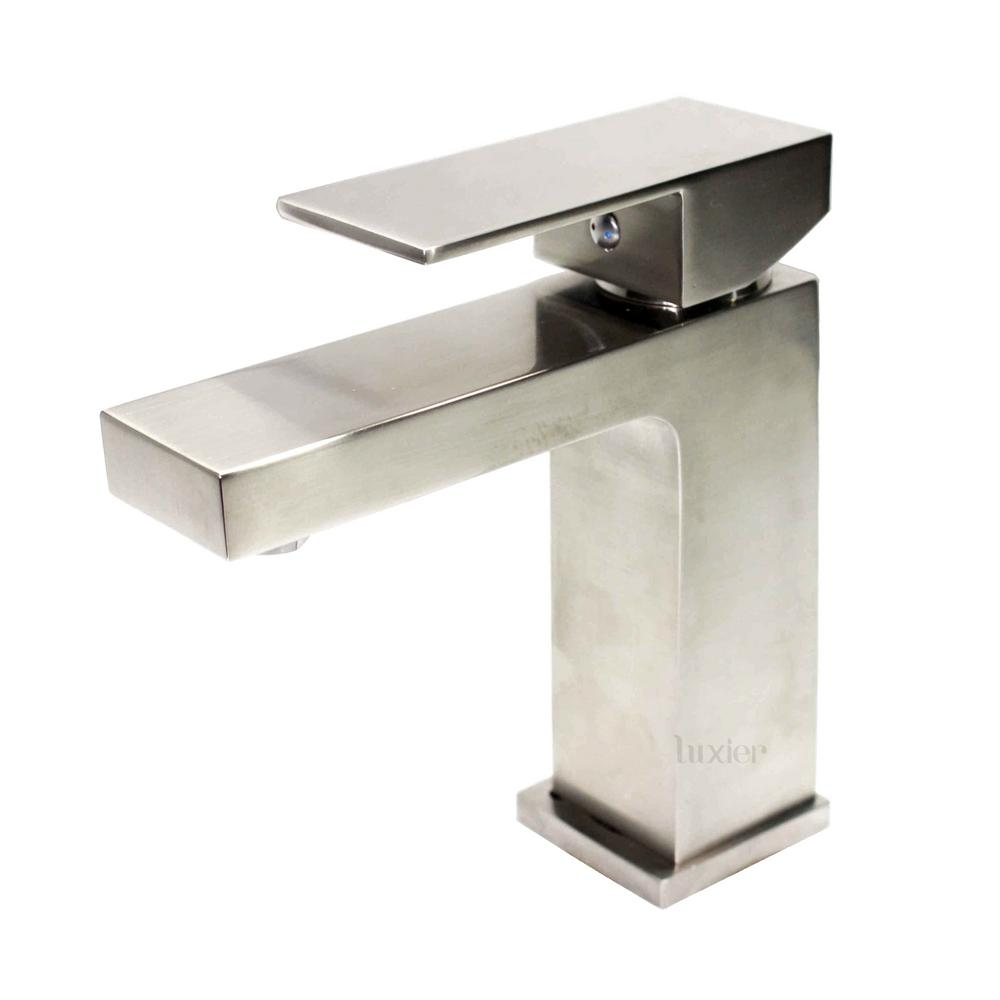 Single Handle Single Hole Contemporary Bathroom Vanity Sink Lavatory Faucet cUPC