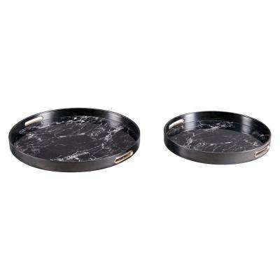 Mundi Black Trays (Set of 2)