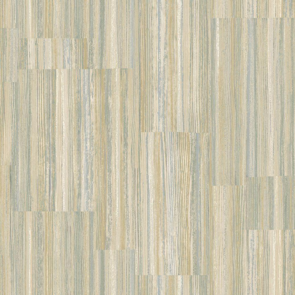 The Wallpaper Company 56 sq. ft. Neutral Patchwork Stripe Wallpaper