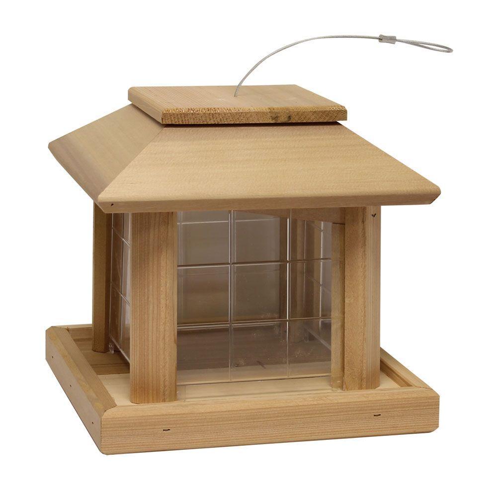 Bird Pavilion Cedar Wild Bird Feeder