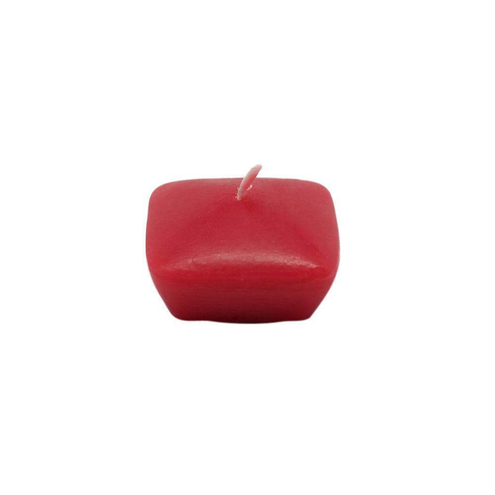1.75 in. Red Square Floating Candles (12-Box)