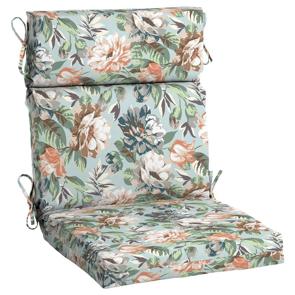 Hampton Bay Charleston Floral High Back Outdoor Dining Chair Cushion