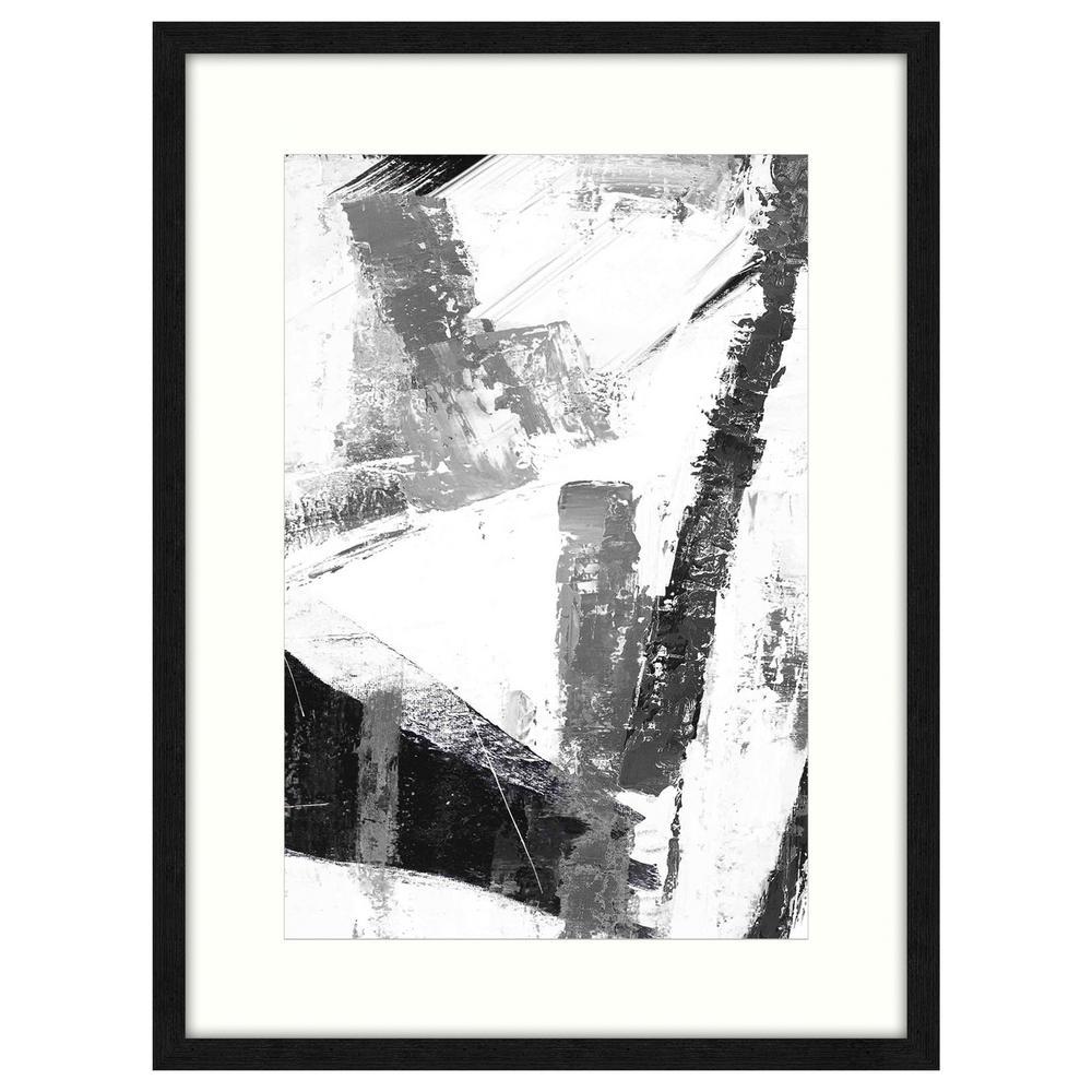 """""""B&W Interpretations I"""" by Unknown Artist Framed Canvas Wall Art"""