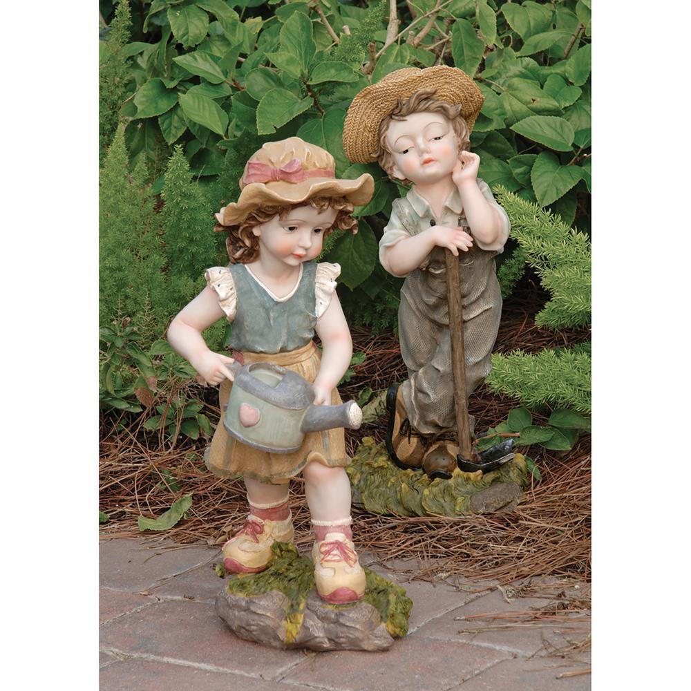 Fanny and Frank Farmer Garden Statue Set (2-Piece)