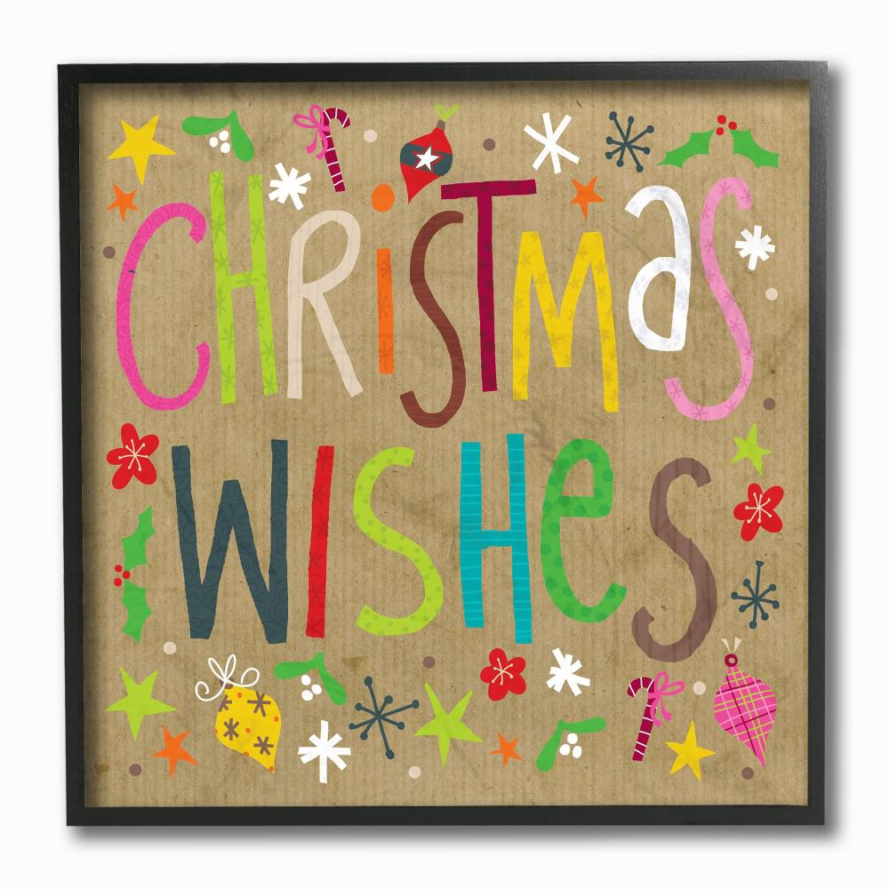 holiday kraft look christmas wishes rainbow