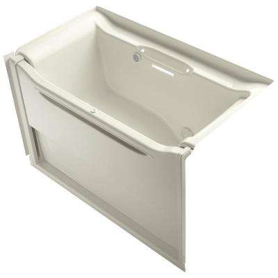 Rectangle Air Bath Tub In Biscuit