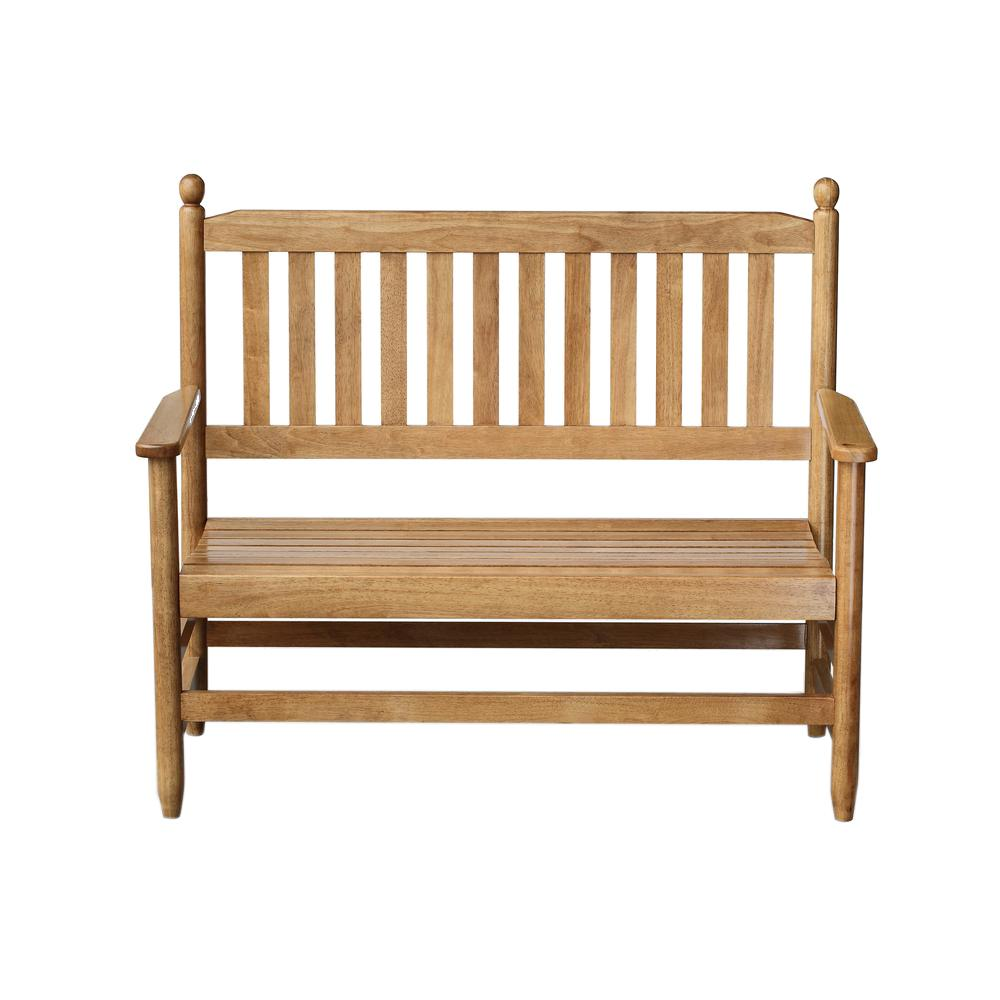 2-Person Maple Wood Outdoor Patio Bench