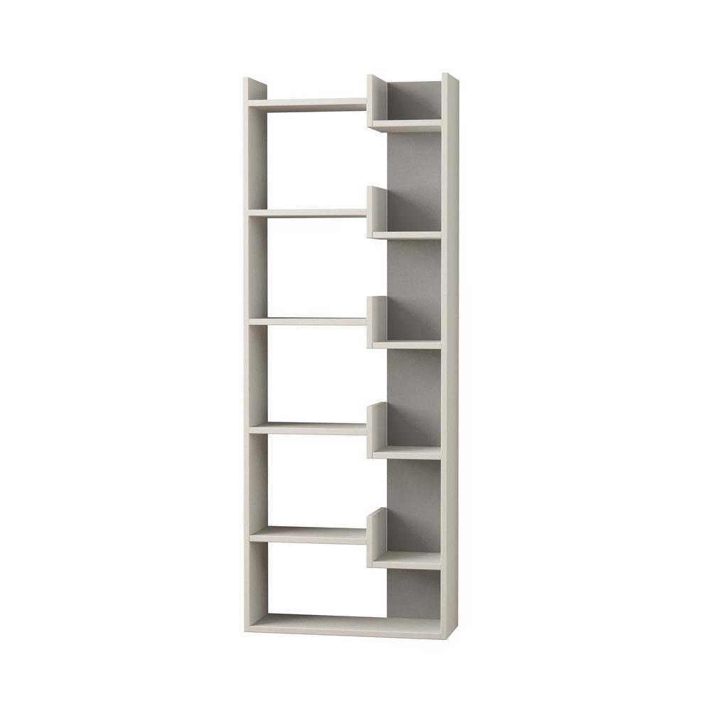 Bonaparte White Modern Bookcase