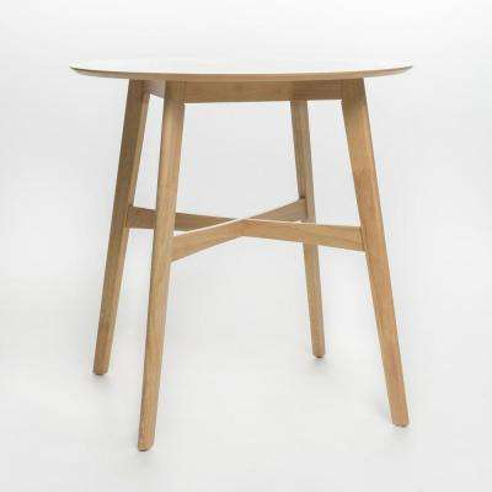 Natural Oak Round Bar Table