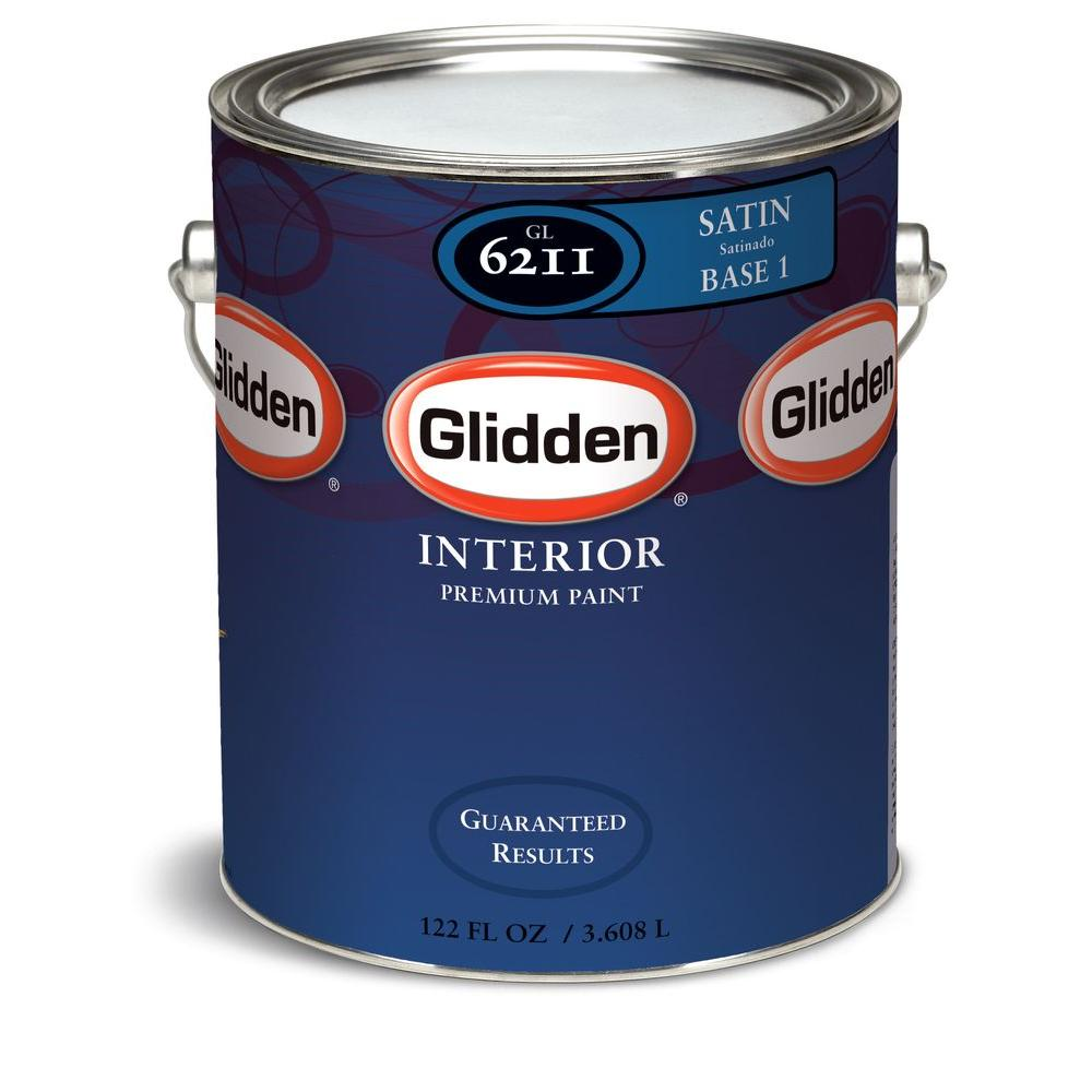 Glidden Premium 1 Gal Satin Interior Paint Gln6212 01 The Home Depot