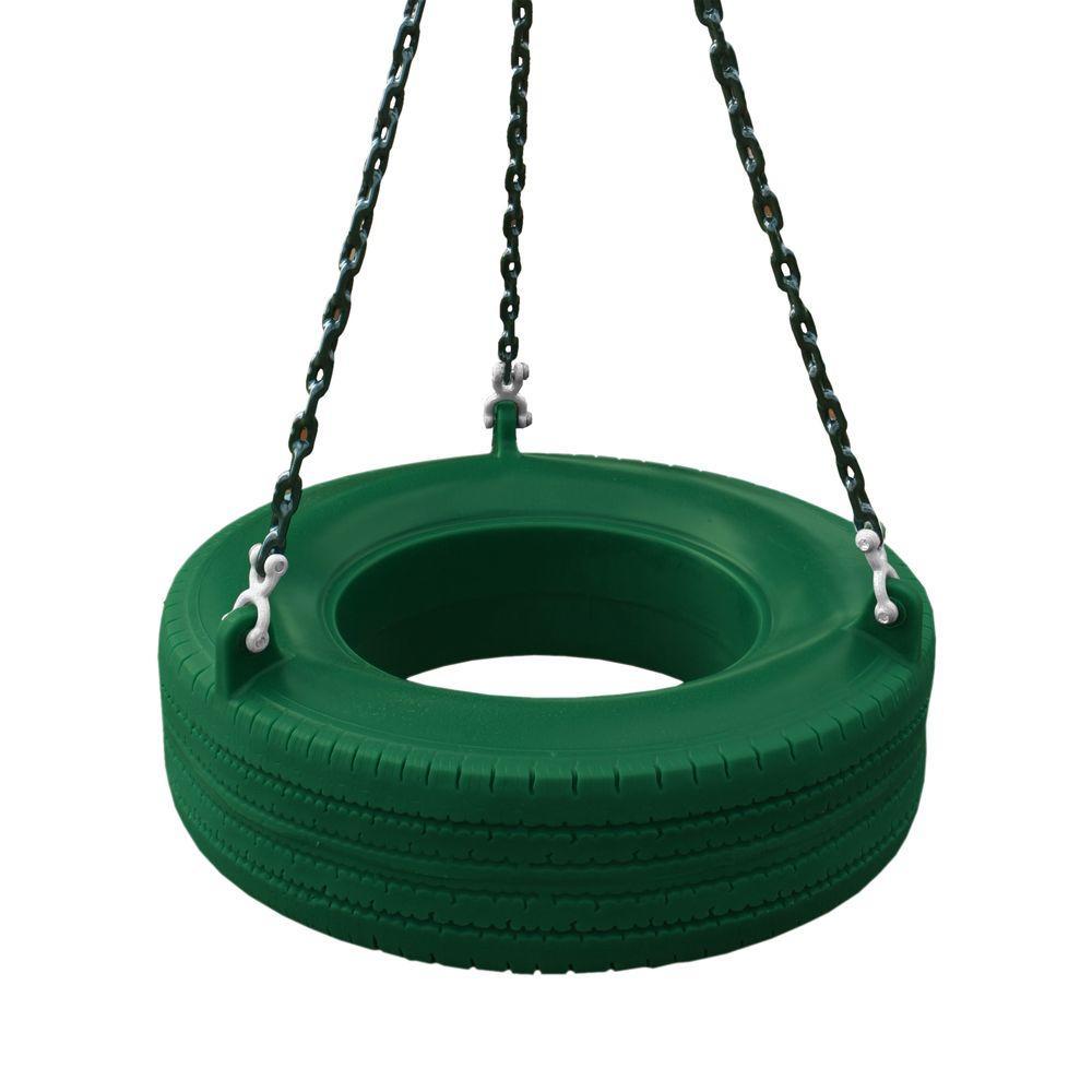 Gorilla Playsets Green 360 Turbo Tire Swing
