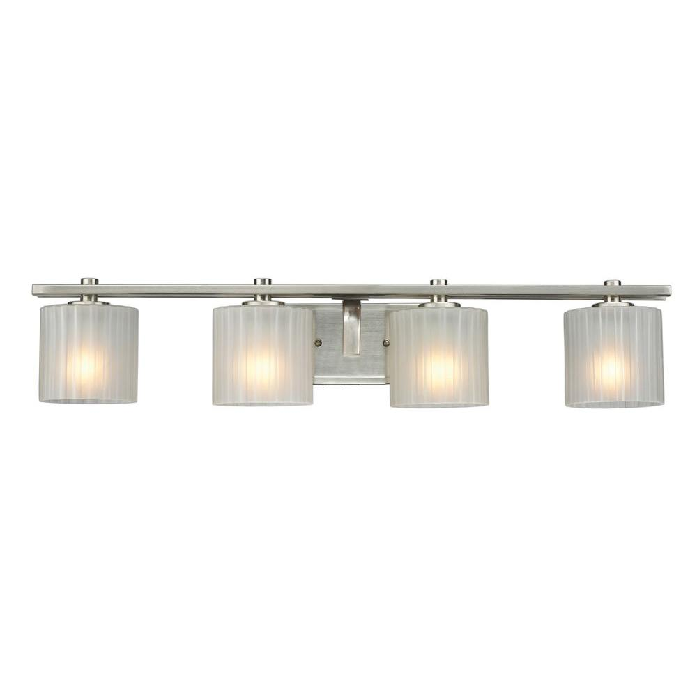 Hampton Bay Sheldon 4-Light Brushed Nickel Bath Bar Light