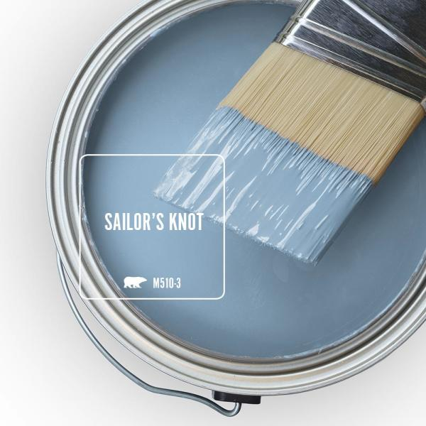 Reviews For Behr Premium Plus 5 Gal M510 3 Sailors Knot Satin Enamel Low Odor Interior Paint And Primer In One 740005 The Home Depot
