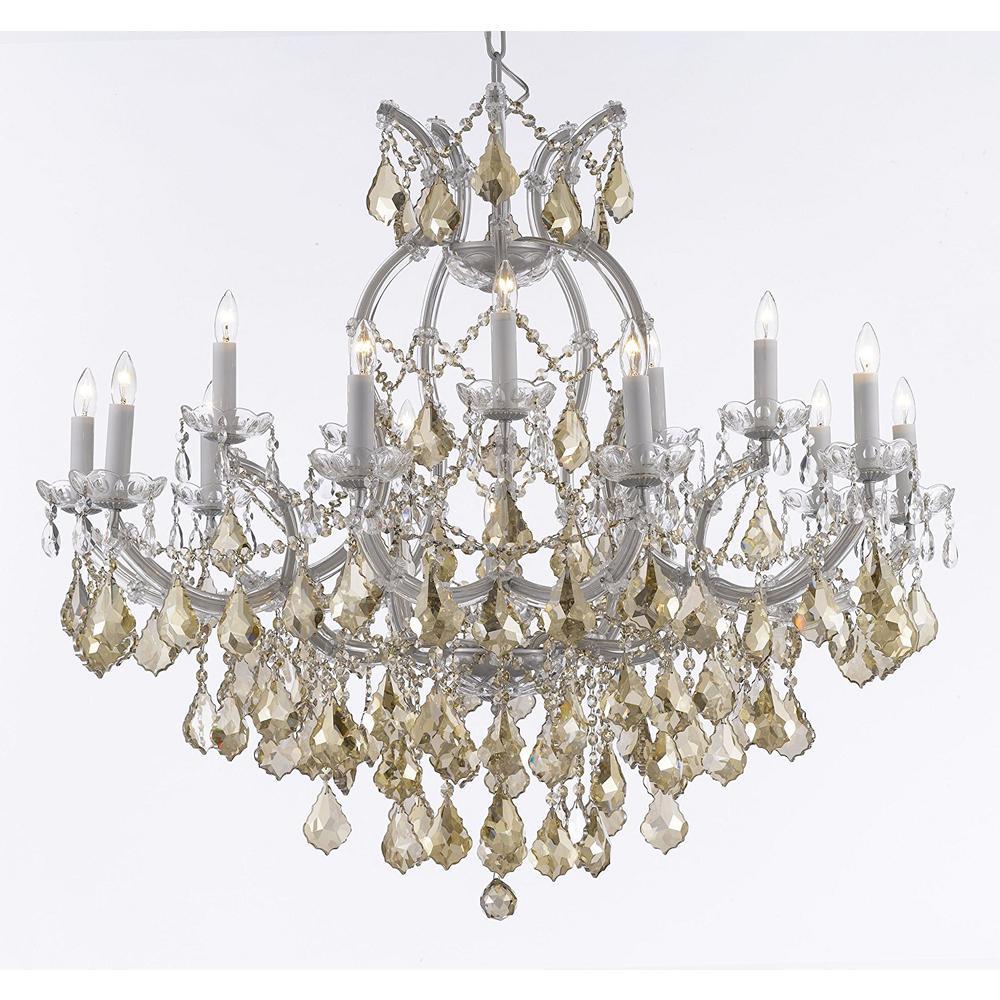 Maria theresa 16 light empress crystal chandelier silver with golden maria theresa 16 light empress crystal chandelier silver with golden teak crystals aloadofball Images