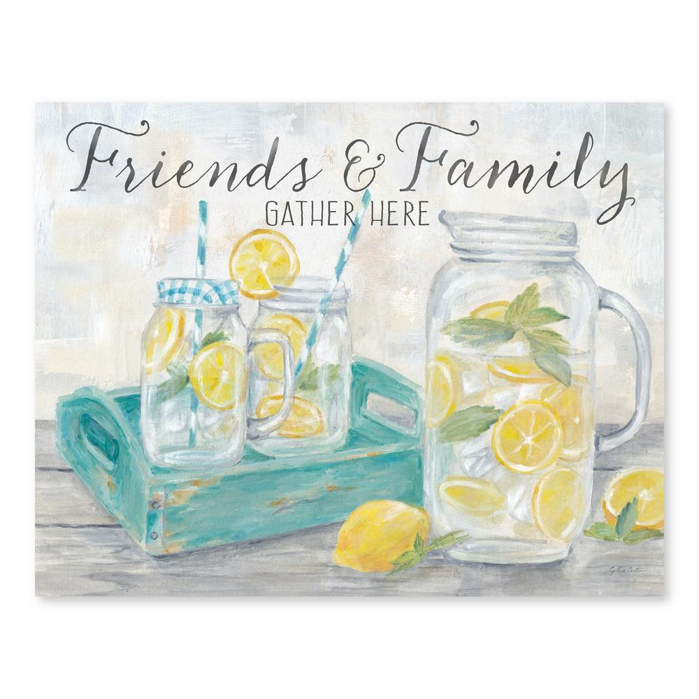 Artissimo Designs Friends and Family Country Lemons Landscapeby Cynthia Coulter Printed Canvas Wall Art, Yellow;Blue;Green;Grey was $55.99 now $38.66 (31.0% off)