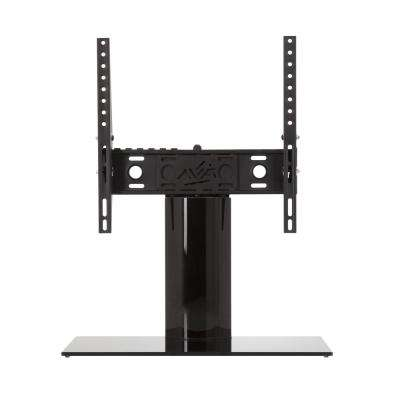 Universal Table Top TV Base Adjustable Tilt and Turn for Most TVs 37 in. to 55 in., Black/Black