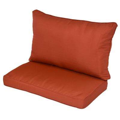 Sauntera Quarry Red Replacement Outdoor Lounge Chair Cushion