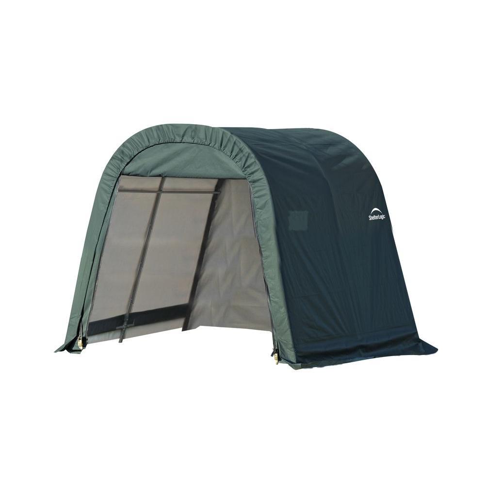 ShelterLogic 8 Ft. X 8 Ft. X 8 Ft. Green PE Garage Without