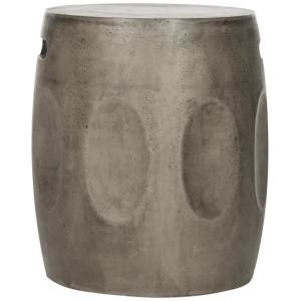 Zuri Dark Gray Round Stone Indoor/Outdoor Accent Table