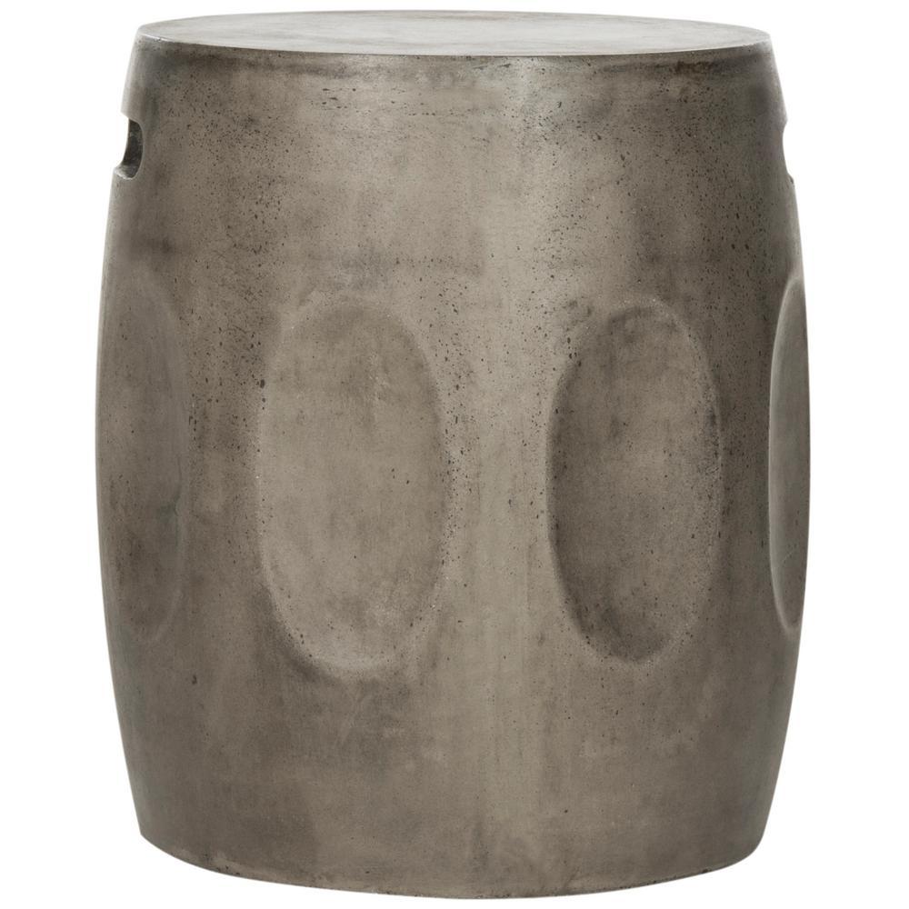 Zuri Dark Gray Stone Indoor/Outdoor Accent Table