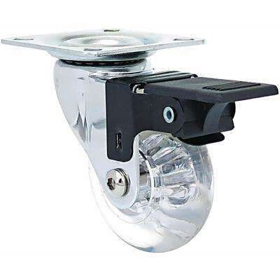 1.4 in. Mini-Jewel Swivel Caster with Brake and 88 lbs. Load Capacity (4-Pack)
