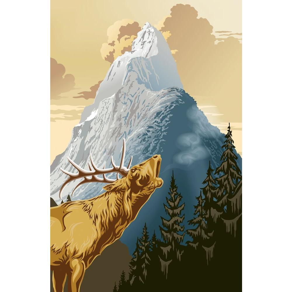 69 in. x 45 in. King of The Mountain Wall Mural