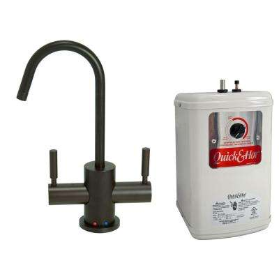 2-Handle Hot and Cold Water Dispenser Faucet with Heating Tank in Oil Rubbed Bronze