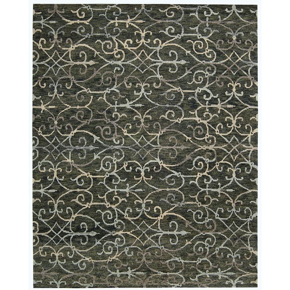 Nourison Tahoe Modern Charcoal 10 Ft X 14 Ft Area Rug