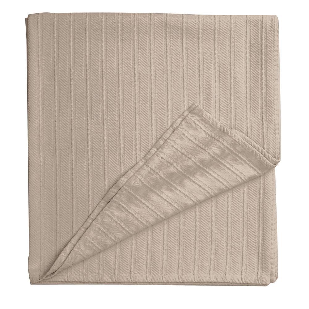 Legends Egyptian Cotton Alabaster Full Woven Blanket