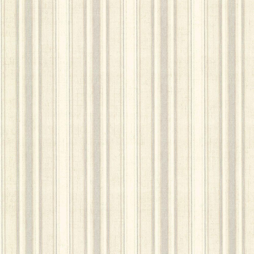 Ellsworth Grey Sunny Stripe Paper Strippable Roll Wallpaper (Covers 56.4 sq. ft.)