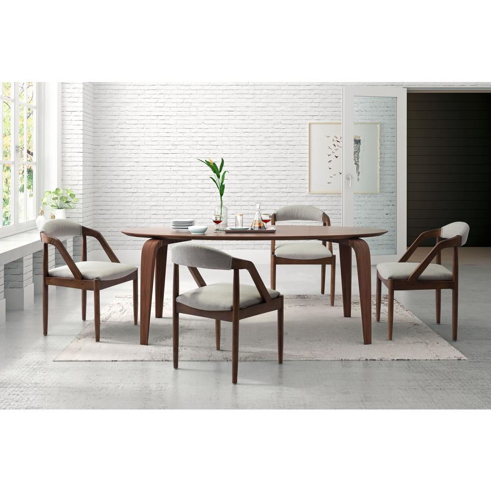 zuo jefferson light gray dining chair 100723 the home depot. Black Bedroom Furniture Sets. Home Design Ideas