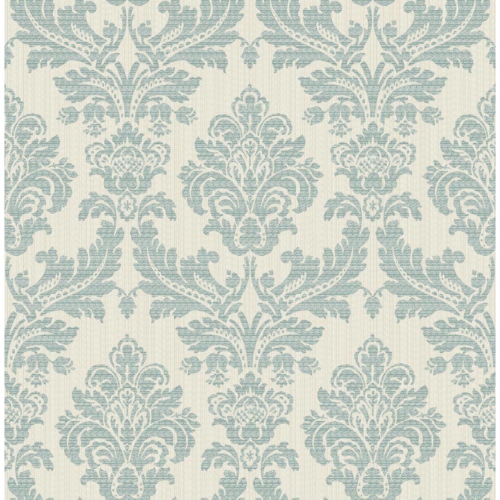 Advantage Piers Teal Texture Damask Wallpaper 2834 25061 The