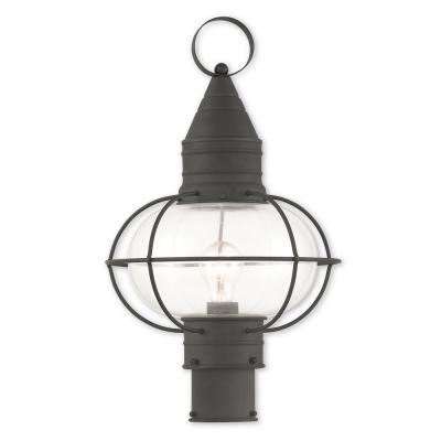Newburyport 1-Light Outdoor Black Post Light