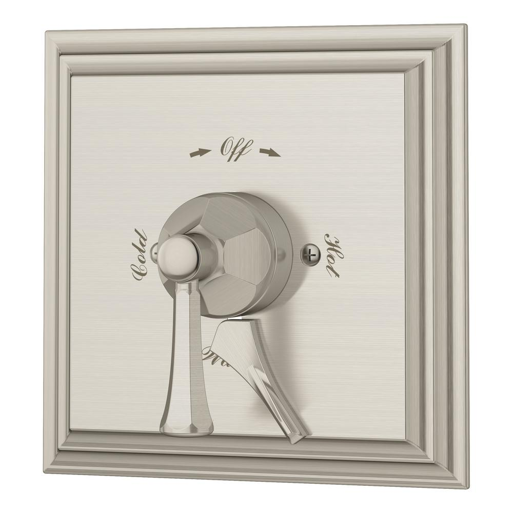 Canterbury Tub and Shower Valve with Integral Diverter in Satin Nickel
